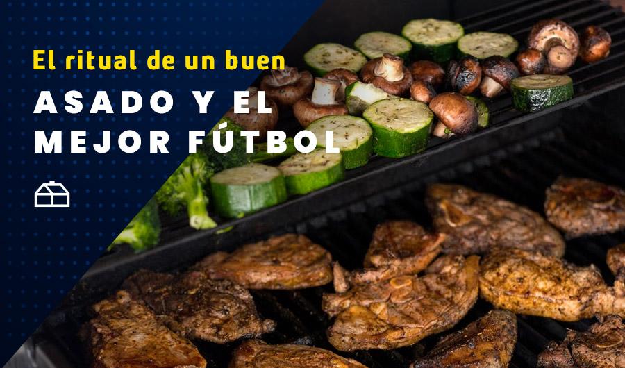 El ritual de un buen asado para acompañar el mejor fútbol